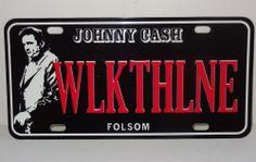 Johnny Cash Walk The Line  License Plate * Folsom Prison * CD Store Promo