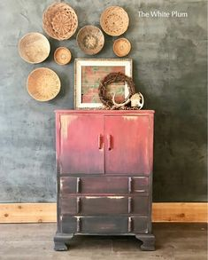 Rustic Boho Antique cabinet painted in Annie Sloan chalk paint.