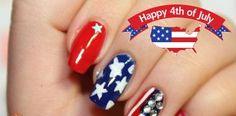 Uñas decoradas para el 4 de Julio – Video paso a paso