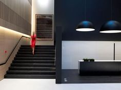 Front desk area of the Met Hotel by Zege Architects.