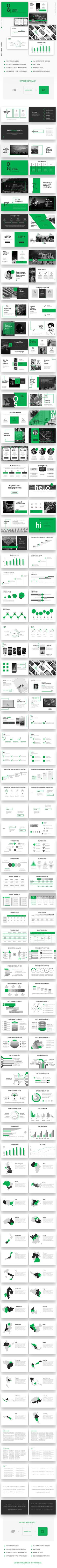 Green Card Business Powerpoint Template — Powerpoint PPTX #mockups #apps • Available here ➝ https://graphicriver.net/item/green-card-business-powerpoint-template/20929122?ref=pxcr