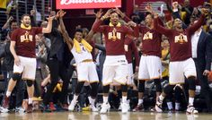 The Cleveland Cavaliers Bench. They like to get wild!