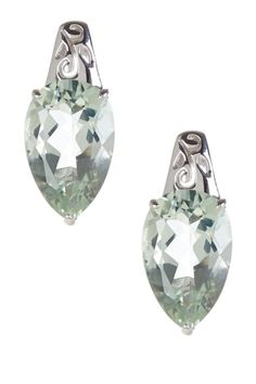 Green Amethyst Teardrop Earrings from HauteLook on Catalog Spree