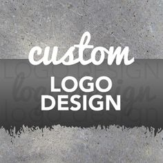 Custom Logo Design made easy! Personalized one of a kind custom logo designed specifically for your business! By Studio 120 Underground, $50.