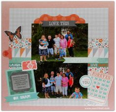 Layout using Kaisercraft's Dream Big Collection.  www.sueeldred.com