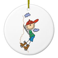 Rock Climbing Stick Figure Ornaments