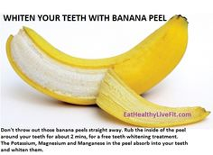 Teeth Whitening with banana peels!