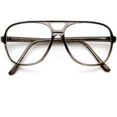 Men's 1980's retro fashion translucent square aviator glasses 8100 ($14) ❤ liked on Polyvore featuring men's fashion, men's accessories, men's eyewear, mens aviators, mens eyewear, mens vintage eyewear and vintage mens accessories