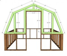 Ana White Build a Barn Greenhouse DIY Project and Furniture Plans Building A Chicken Coop, Building A Shed, Building Plans, Green Building, Ana White, Diy Greenhouse Plans, Greenhouse Gardening, Greenhouse Wedding, Backyard Greenhouse