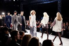 The big finale.   Behind the Scenes of Fashion show AW 2012