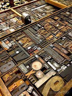 Vintage Print Blocks ...