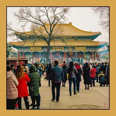 """Back again to the DaXingShan Shi Temple in Xi'an China as everybody crowds to burn their 3 incense sticks for good blessing for the New Year on Chu YI 1st day of the CNY. The """"Emperor's Yellow"""" for wealth is evident on the temple's roof and my framing.  #vssr #xian #china #GF670 #thefindlab #FIND #istillahootfilm #ishootfilm #flimsnotdead #120film #mediumformat #fujifilm #ZSEpanel #ZoneSystemPanel #ZoneSystemExpress #kodakporta #filmsnotdead  #filmshooterscollective #carmencitalab #shootfilm…"""