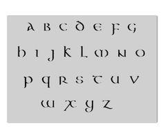 Celtic lettering