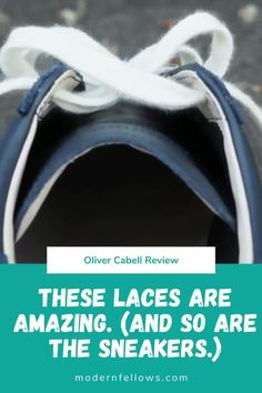 I am extraordinarily fond of the very thick, very soft laces that grace my Oliver Cabell low top leather sneakers for men. See my full review. Leather Trainers, Leather Sneakers, Business Casual Dress Code, Minimalist Sneakers, Dress With Sneakers, Luxury Shoes, Startups, Luxury Branding, Men Dress