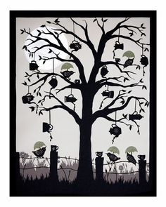 Tea Party by Angie Pickman (a print of this hangs in my dining room). Cut paper art.