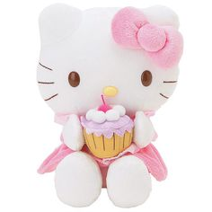 and i love Hello Kitty & cupcakes. Sanrio Hello Kitty, Peluche Hello Kitty, Hello Kitty Toys, Hello Kitty Themes, Hello Kitty Birthday, Kitty Kitty, Hello Kitty Cupcakes, Cat Cupcakes, Love Cupcakes