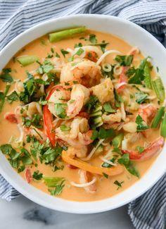 Thai Coconut Curry Shrimp Noodle Bowls How Sweet Eats Thai Coconut Curry Shrimp Noodle Bowls How Sweet Eats how sweet eats howsweeteats Healthy Recipes We all need a nbsp hellip Fish Recipes, Seafood Recipes, Asian Recipes, Soup Recipes, Dinner Recipes, Cooking Recipes, Healthy Recipes, Thai Curry Recipes, Noodle Recipes