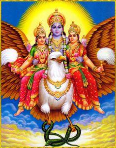Shri Vishnu with consorts Shri and BhuArtist: C.Sivas