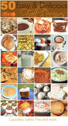 Fall recipe roundup including 50 easy and delicious recipes that will be a crowd pleaser!