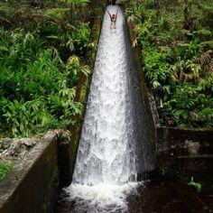 canal slide in bali. lets go.