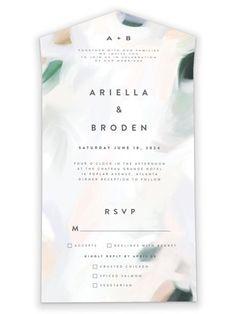 Wedding Invitations, Wedding Invitation Inspiration, Rsvp, All In One, Artsy, Art Prints, Chic, Simple, Modern