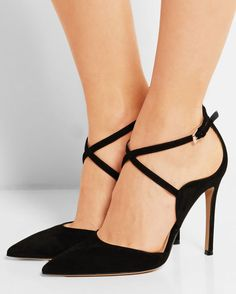 GIANVITO ROSSI Suede Pumps   Buy ➜ http://shoespost.com/gianvito-rossi-suede-pumps/