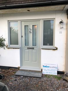 Wow, Kerb appeal at its finest Another day, another sensational Solidor instalation Ludlow in Painswick Green with colour matched frame Victorian etch in door, satin in flag windows Solidor Composite Doors We get it right at Wright Glazing Composite Windows, Composite Front Door, Solidor Door, Green Front Doors, Kerb Appeal, House Front Door, Double Glazed Window, House Windows, Door Ideas