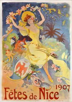 Fêtes de Nice, 1907 de Jules Chéret by dalbera