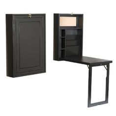 Convertible Desk -   Keep your place free from clutter with a desk that's compact but large enough to store office supplies, papers, and mail. When you want to conceal your workspace and utilize that space to practice your pop and locking, simply fold the desk and legs up and lock them into place.