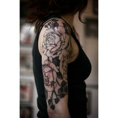 50 Awesome Examples of Sleeve Tattoos for Women ❤ liked on Polyvore featuring accessories, body art, tattoos and pictures