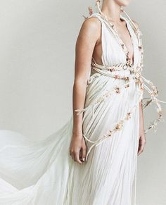 "fuckyeahfashioncouture: ""  Chen Ariel Nachman Bridal Collection "" Reminds me of Lyanna's wedding dress in Dorne"
