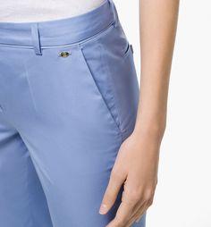 INDIGO POPLIN TROUSERS - Trousers & Denim - SALE - United States - Massimo Dutti