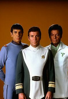 Mr. Spock (Leonard Nimoy), Admiral Kirk (William Shatner) & Dr. McCoy (DeForest Kelley) - Star Trek: The Motion Picture (1979)