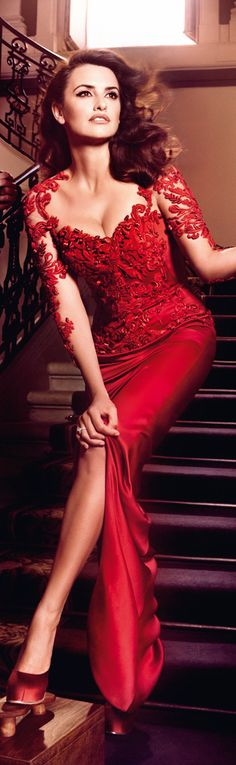 Love this dress - Penelope Cruz Campari 2013- woman, mother, wife, actress, philanthropies & sexy smart
