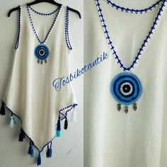 If you like pareo . Sewing Clothes, Crochet Clothes, Diy Clothes, Clothes For Women, Crochet Skirts, Crochet Blouse, Knit Crochet, Abaya Fashion, Fashion Dresses
