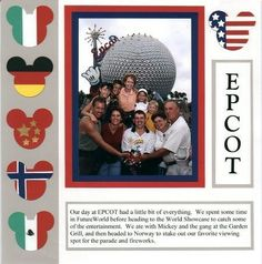 Disney World Epcot Scrapbooking - border with the different mouse heads