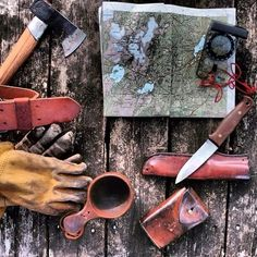 Planning new adventures in the wild #nordic #bushcraft #canoe #wilderness #axe #knife