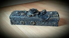 Mixed Media Art - Pencil Box One of my very first pieces of my style of mixed media work :-)