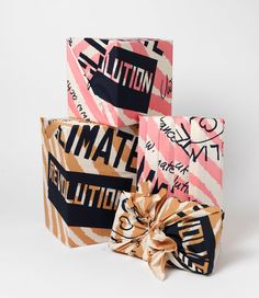 Vivienne Westwood's Knot-Wrap designed for Lush homemade cosmetics. Cute #packaging!