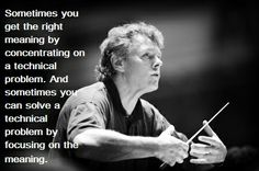 """Mariss Jansons plans out meticulously every aspect of each rehearsal. """"I try to create a complete sound picture in my head, what I want to make real in rehearsal,"""" Ref: Mariss Jansons, interview By Ivan Hewett, Chief Music Critic The Telegraph"""