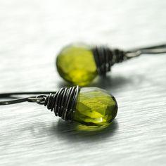 green quartz, wire wrapped