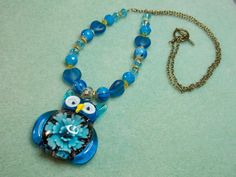Hoooo-In-Blue! - Jewelry creation by Terrie