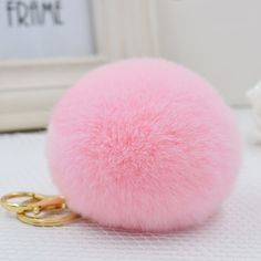 1fdf787a3a 2016 New Cute Rabbit Pompom Keychain Fur Pom Pom Keychain Car Bag Charm Fur  Ball Key Chain Women Key Holder Ring Keychains KC03-in Key Chains from  Jewelry ...