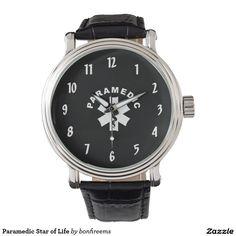 Paramedic Star of Life Wrist Watch