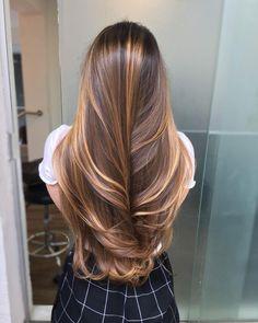 Long Hair Highlights, Brown Hair Balayage, Brown Blonde Hair, Balayage Highlights, Blonde Balayage, Caramel Hair Highlights, Gorgeous Hair Color, Aesthetic Hair, Blonde Aesthetic
