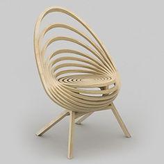 Estampille 52    FAUTEUIL OCTAVEDans un jeu d'équilibre parfait, la structure de ce fauteuil offre un effet spirale trompe-l'oeil pour une création graphique épurée.    Matières :  Multiplis de bouleau    Dimensions :  • Hauteur : 94 cm  • Largeur : 69 cm  • Profondeur : 47 cm    Prix : 3 200 €, -10% pour 2 fauteuils