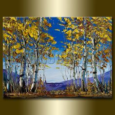 ( Thanks for stopping by! Check out my store for more Willson Lau Original Birch Forest Landscape Oil Paintings here: