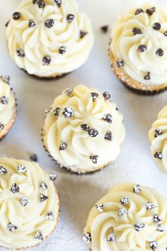 Cannoli cupcakes are made with light cinnamon cupcakes and a creamy mascarpone frosting to create a treat that you won't be able to resist!: