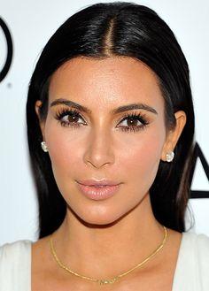 kim kardashian makeup red carpet