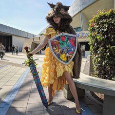 Beauty the Beast slayer cosplay. Belle Cosplay, Disney Cosplay, Cosplay Makeup, Cosplay Outfits, Cosplay Girls, Cosplay Costumes, Cosplay Ideas, Steampunk Belle, Female Joker Costume